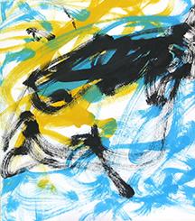 チンパンジーのアイが描いた絵